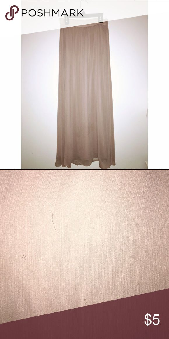 Old Navy Maxi Skirt Blush pink maxi skirt with elastic waist band! Small snags on back (pictured) Old Navy Skirts Maxi