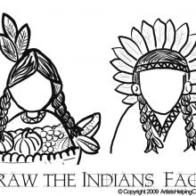 Beautiful Indian Coloring Book
