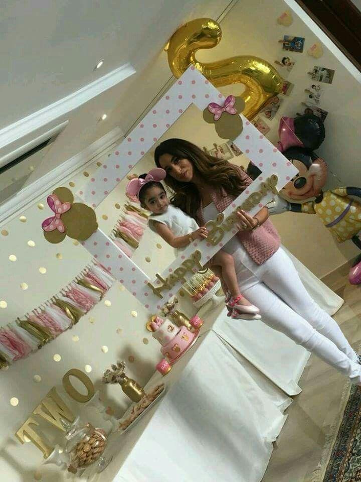 Decoracion de minnie y gold and pink