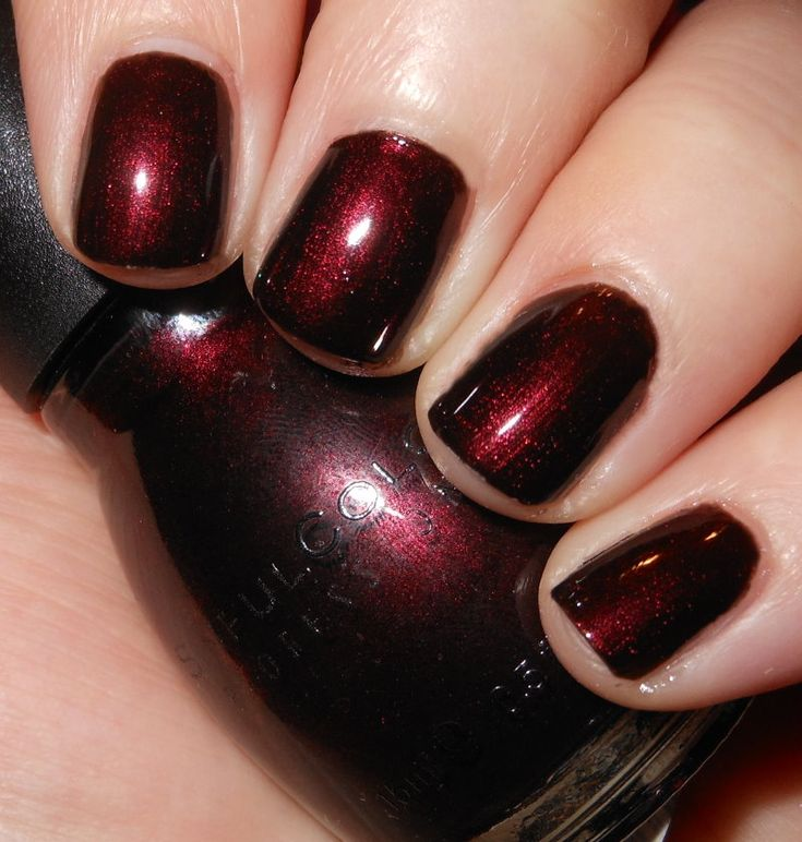 Imperfectly Painted: Sinful Colors Rich in Heart   close/dupe to OPI German-icure and OPI Midnight in Moscow