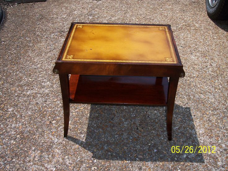 ANTIQUE STICKLEY OF GRAND RAPIDS END TABLE mahagony W/ LEATHER TOP EMPIRE  STYL - 30 Best Furniture Stickley, Mission, Arts & Crafts Images On