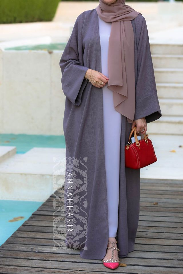 Abaya set with slip dress
