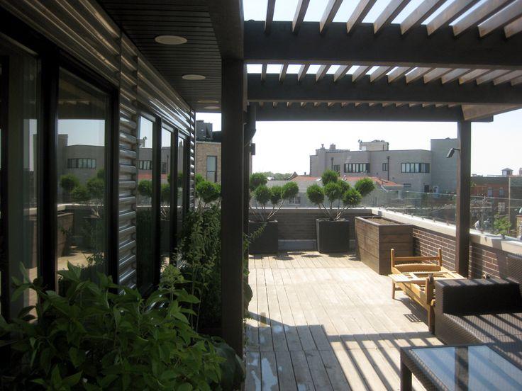 Roof Deck, Pergola, Urban, Garden, Landscape, Design | Topiarius