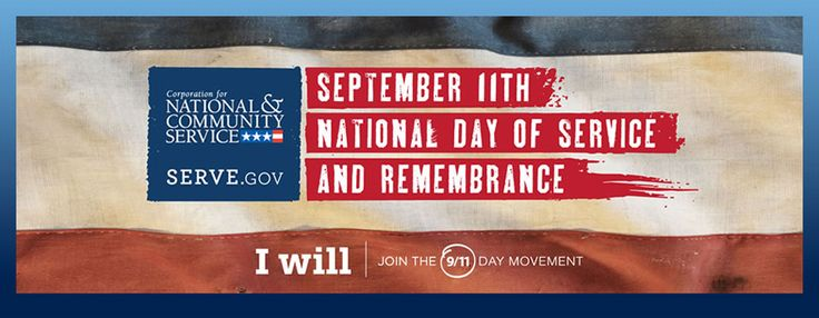 The official Serve.gov web site is a terrific resource for finding ways to volunteer and honor the memory of 9/11 by building a stronger tomorrow   http://www.serve.gov/?q=site-page/september-11th-national-day-service-and-remembrance