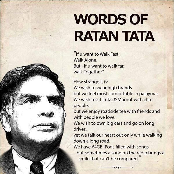 Most inspirational words by Ratan Tata