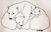 Polar Bears w. cubs  Pen & Ink  sketch / drawing Original Illustration Pencil Sketches / Drawings / Illustration / Ink Drawings & Original Art by Vancouver BC Artist Kim Hunter a.k.a.INDIGO pencil drawing  by Canadian Vancouver BC Artist INDIGO aka Kim Hunter Pencil Sketches / Drawings / Illustration Flowers Wildlife Landscapes Sketches Ink Drawings & Original Art & illustration landscape sketches, wildlife, nudes, people, portraits, pets, Art & Design Pencil, graphite & ink sketches…