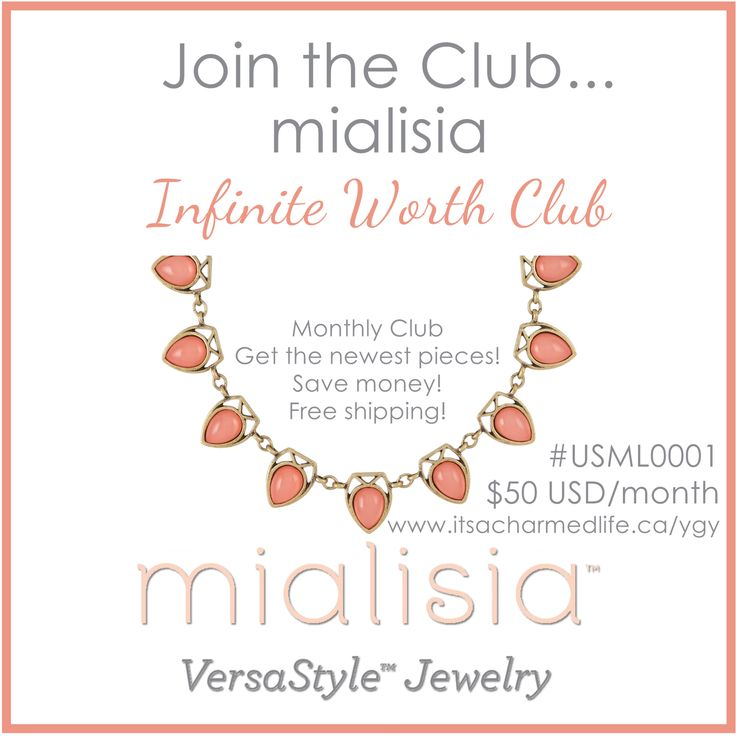 Join the Club! #mialisia #infiniteworthclub #buyygy #shdcharmedlife