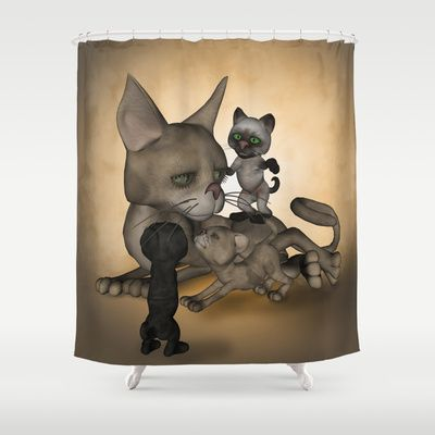 #Funny cat family #Shower #Curtain by nicky2342 - $68.00