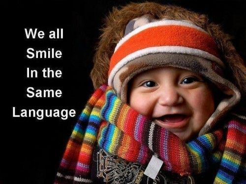 We all smile in the same language: