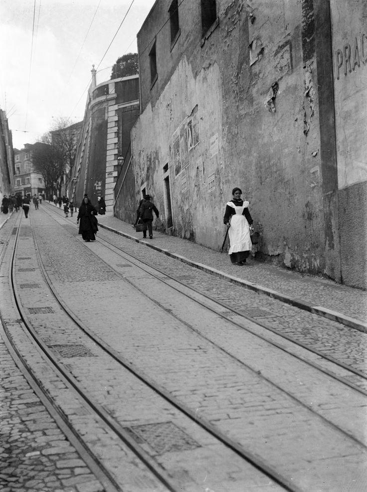 Lisboa, Calçada da Glória no início sec. XX