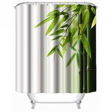 Bambus Rodziny Łazienka Zasłona prysznicowa Proste Poliester Ring Pull Łatwy w Instalacji Łazienka Dekoracje Tekstylia Domowe(China (Mainland))