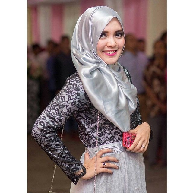 black and silver  #instahijab by monaoctavia1913