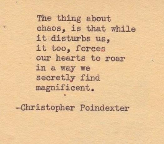 Mooie verwoording van de kracht van Chaos.