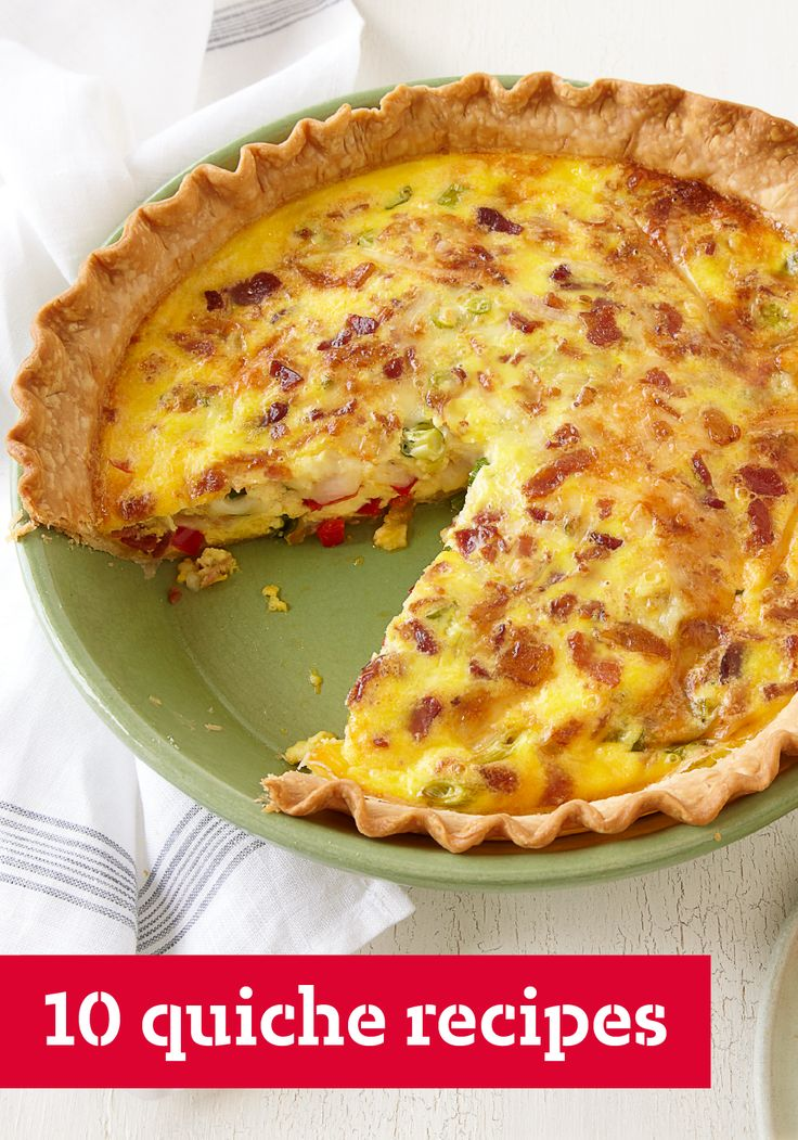 10 Quiche Recipes – Hosting brunch is a breeze when you have a good quiche recipe on hand. It's a way for eggs and cheese (and a few other friends like bacon, spinach and peppers) to come together and get the party going. You're sure to find a breakfast-time pie in this collection that will please all palates.