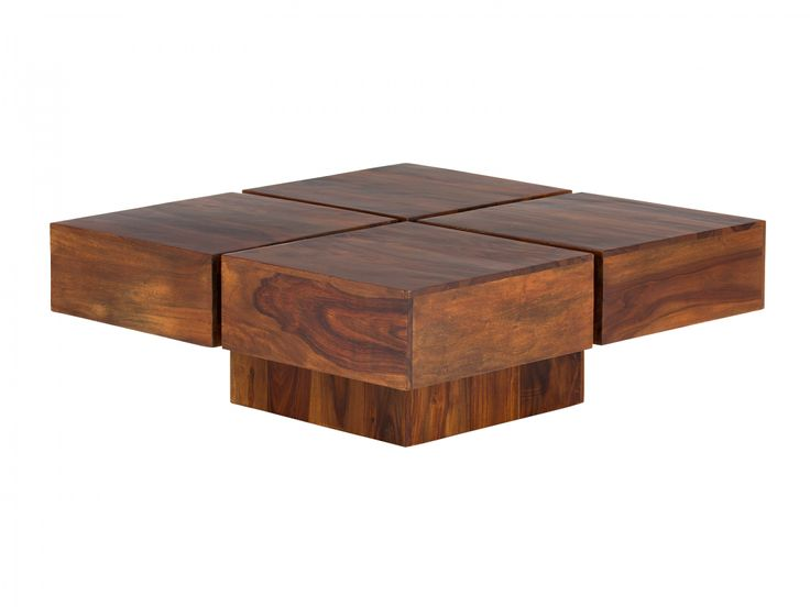 Couchtisch 80x80 Massiv Holz Palisander Mobel Neu Sofatisch SQUARE CUBE