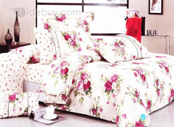 79 best bedding images on pinterest home fashion bedding sets and bright white 4 piece red flowers print comforter sets with cotton mightylinksfo
