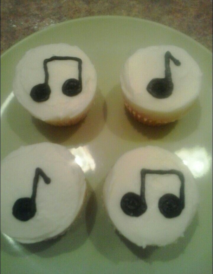 Music Note Cupcakes!
