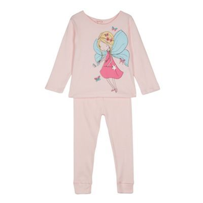 bluezoo Girl's light pink fairy pyjama set- at Debenhams.com