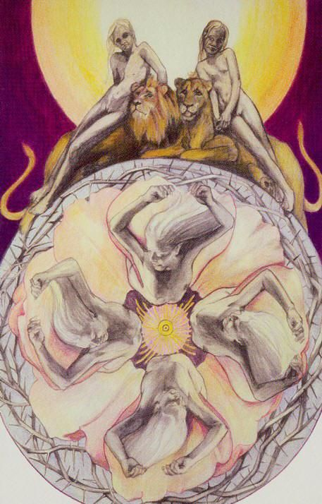 XI. StrengthXV. The Devil - Via Tarot by Susan Jameson, John Bonner