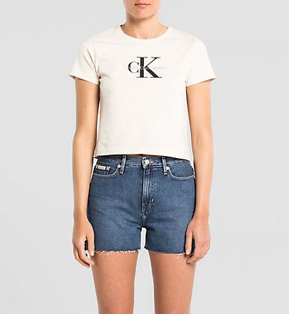T-shirt Court Avec Logo Femmes | Calvin Klein® France