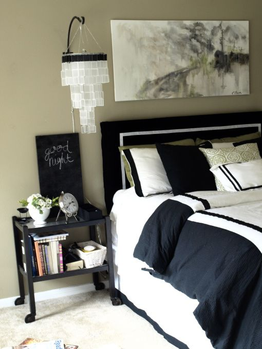 18 best black and white rooms images on pinterest
