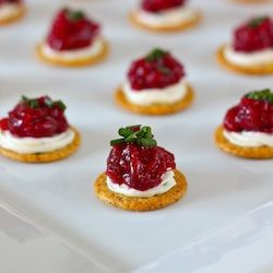 Delicious and Adorable Dijon, Cranberry and Cream Cheese Appetizer!