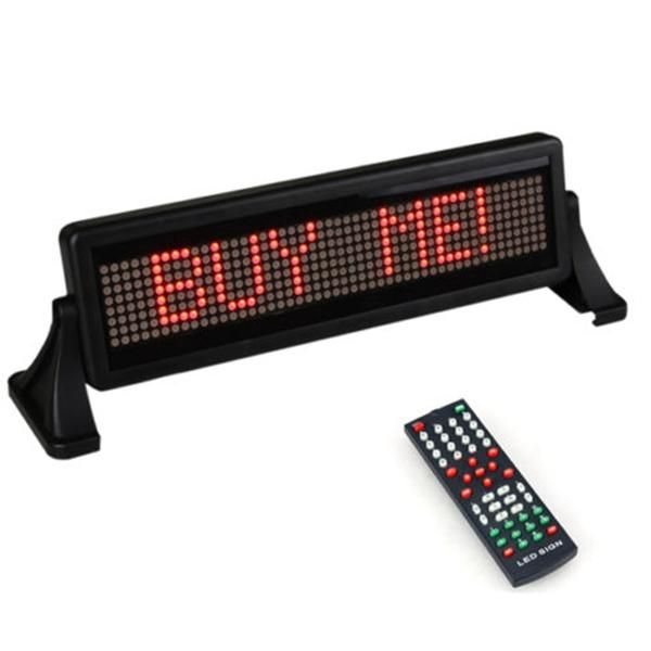 Us 42 87 Mini 12v Car Scrolling Display Sign Light Remote Control Moving Stop Message Red Car Electronics From Automobiles Motorcycles On Banggood Com Remote Display Sign