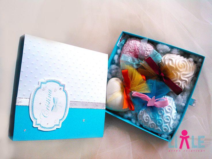 caixa com gesso perfumado