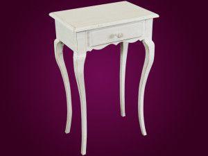 Konzolový stolík Livorno Patina 51cm  Krásny konzolový stolík Livorno so šuflíkom vo vintage štýle. Jeho jednoduché a čisté oblé línie podčiarkujú jeho eleganciu a čistotu, ktorá je dotvorená jemnou patinou.  Šírka: 51cm  Dĺžka: 35cm  Výška: 80cm  Materiál: drevo  Dostupné farby: zlatá, strieborná, biely lak, patina