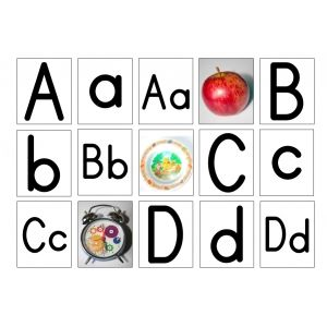 """Free: Fun Alphabet Flashcards to print and use with """"LEARN by DOING"""" products like FUN ALPHABET ACTIVITIES or ALPHABET SEQUENCING ACTIVITIES."""