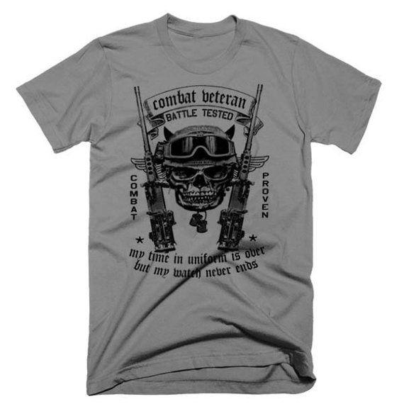 Army Military T-shirt USMC Iraq War Afghanistan Veteran
