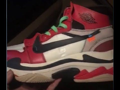 Aha! OFF–WHITE x Nike Air Jordan 1 x Balenciaga Triple S Custom ... 4e1d32043d