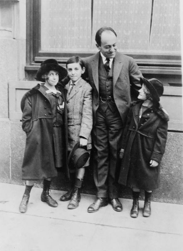 Ernest Bloch | #composer with his three children. Suzanne, Ivan, and Lucienne.