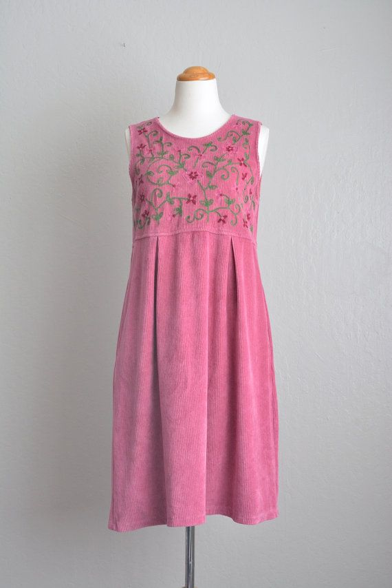 Size S // ORCHID CORDUROY FLORAL Dress // Pink-Purple