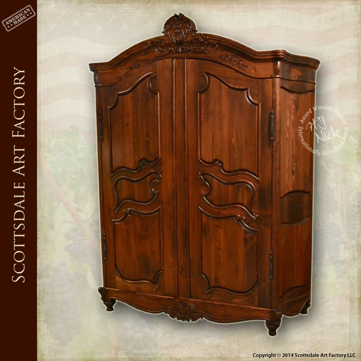 Armoire solid wood wardrobe custom hand crafted by