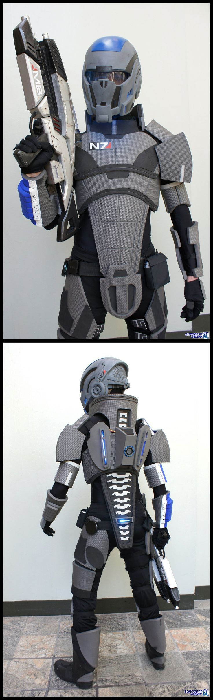 Steven Massey as Commander Shepherd from Mass Effect #cosplay