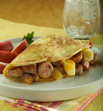 al fresco Apple Maple Chicken Breakfast Sausage & Sauteed Apple Omelet