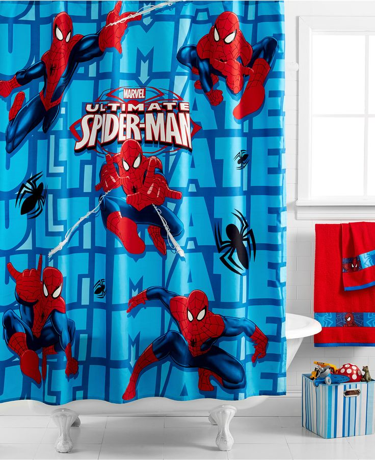 Are Your Spidey Senses Tingling? Probably Because You Just Found The  Perfect Shower Curtain For