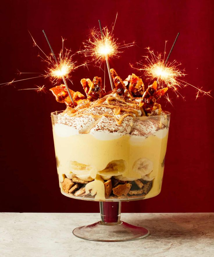 Liam Charles' recipe for New Year's Eve banoffee trifle in