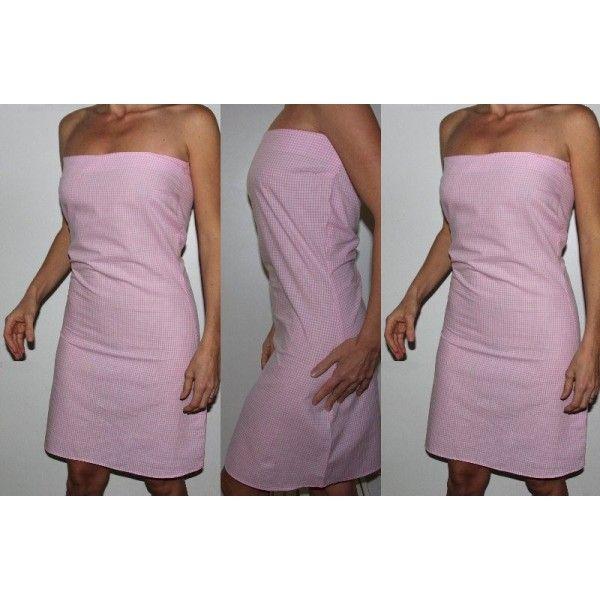 Patron - Robe femme vichy rose