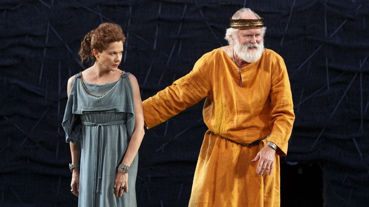 Annette Bening and John Lithgow in King Lear.