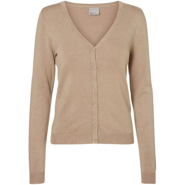 CLASSIC CARDIGAN ($25) ❤ liked on Polyvore featuring tops, cardigans, cardigan top, beige cardigan and beige top