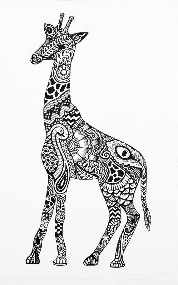henna giraffe designs drawings - Google Search