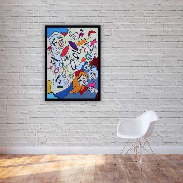 Buy Scream 9, Acrylic painting by Ninah Mars on Artfinder. #art #buyart #homedecor #interiordesign #abstract #painting #abstractpainting #artfinder #arte #contemporaryart #popart