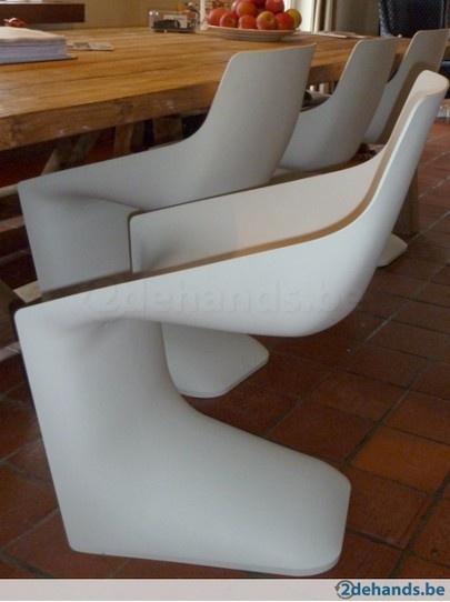 Design eetkamerstoelen Kristalia Pulp, 4 stuks
