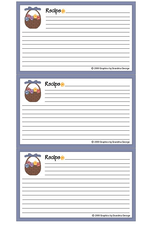 129 best Recipe cards images on Pinterest Food, Leaves and Crafts - index card template