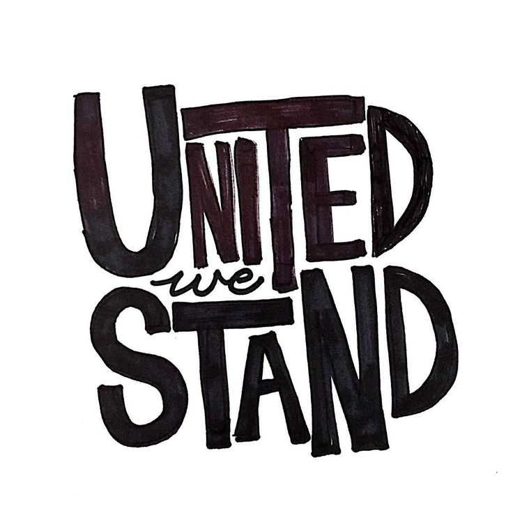 Lettering inspiration united we stand by Knotty_paper UTC
