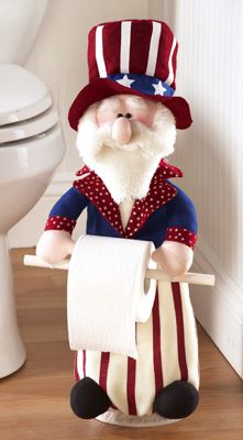 Uncle Sam Americana Bathroom Toilet Paper Holder -I definitely NEED this to finish off my Americana bathroom!