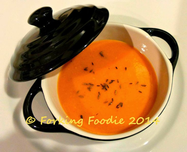 Forking Foodie: Speedy Spiced Sweet Potato and Tomato Soup