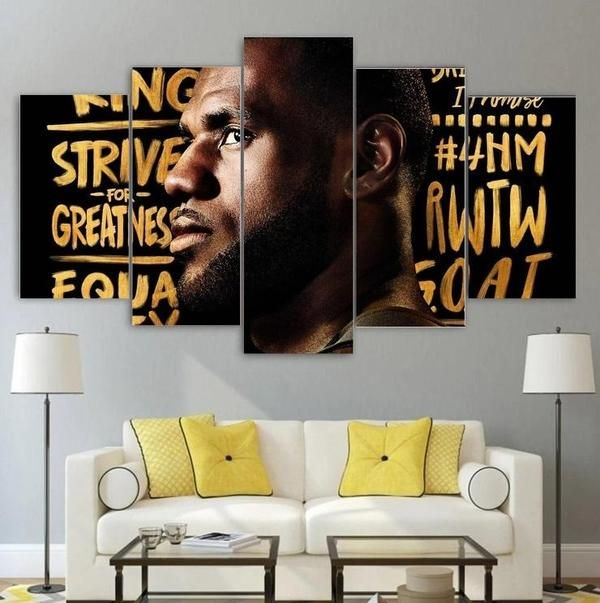 Lebron James Canvas Painting Wall Art Home Decor Free Shipping Lebron James Canvas Wall Art Canvas Painting Nba Wall Art